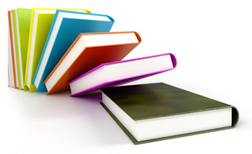 colored books isolated on glossy white #2